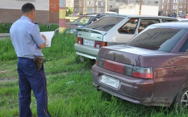 Штраф за парковку на газоне в 2019