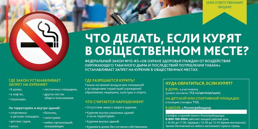 Закон о запрете курения в общественном месте