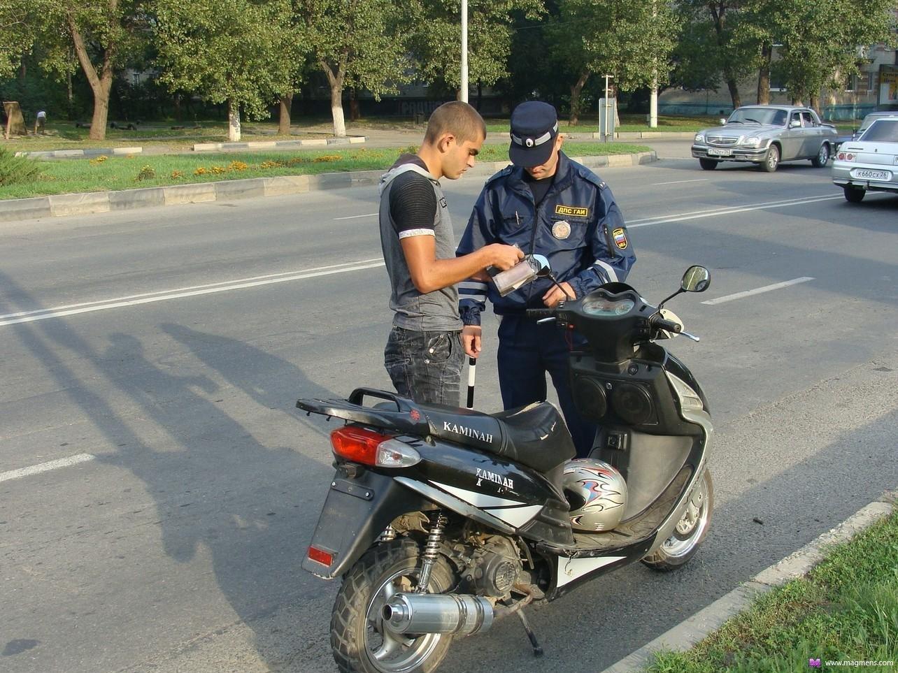 Какой размер штрафа без регистрации мотоцикла
