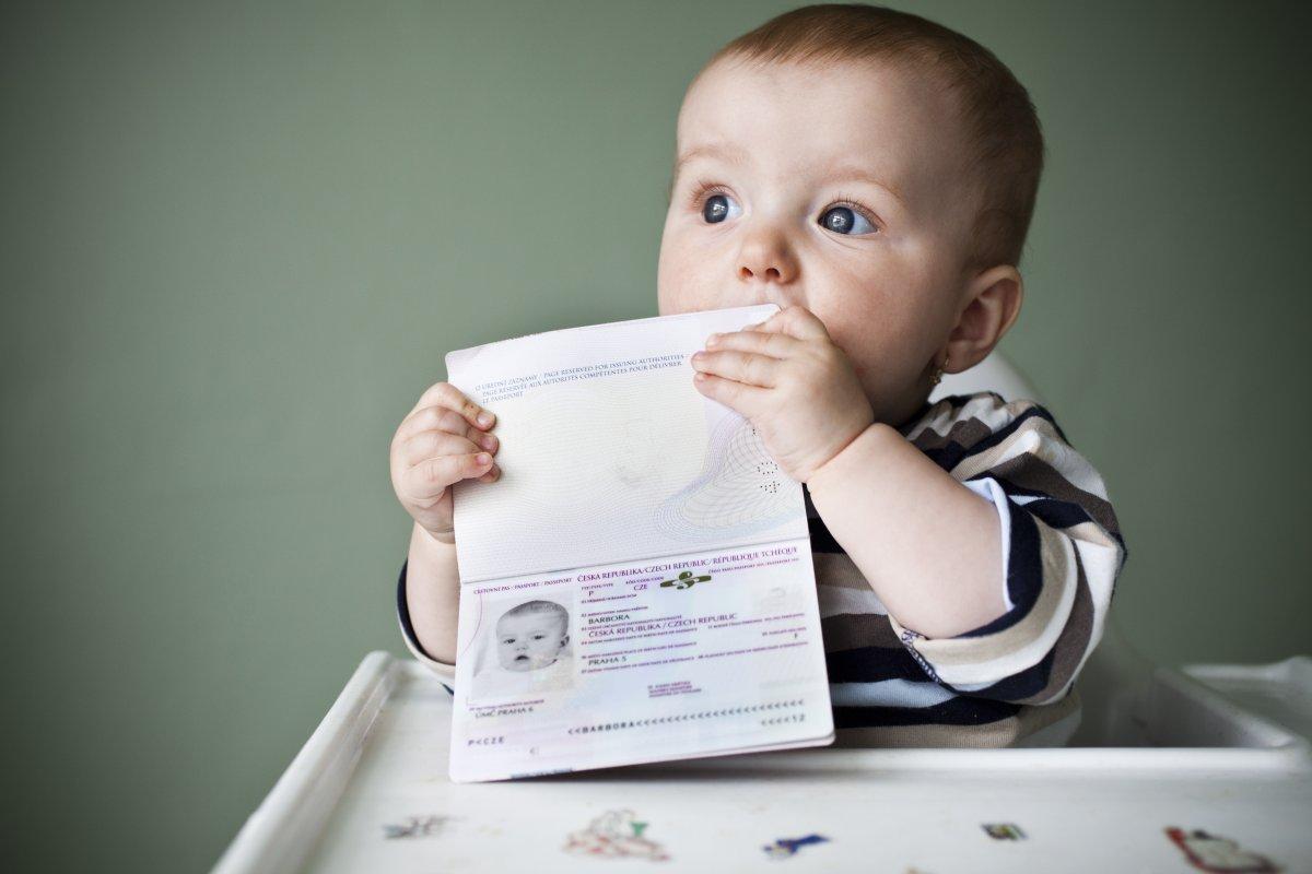 Регистрация новорождённого.