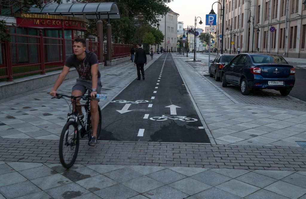 Заезду повелосипедной дорожке штраф вМоскве составляет 3000 рублей