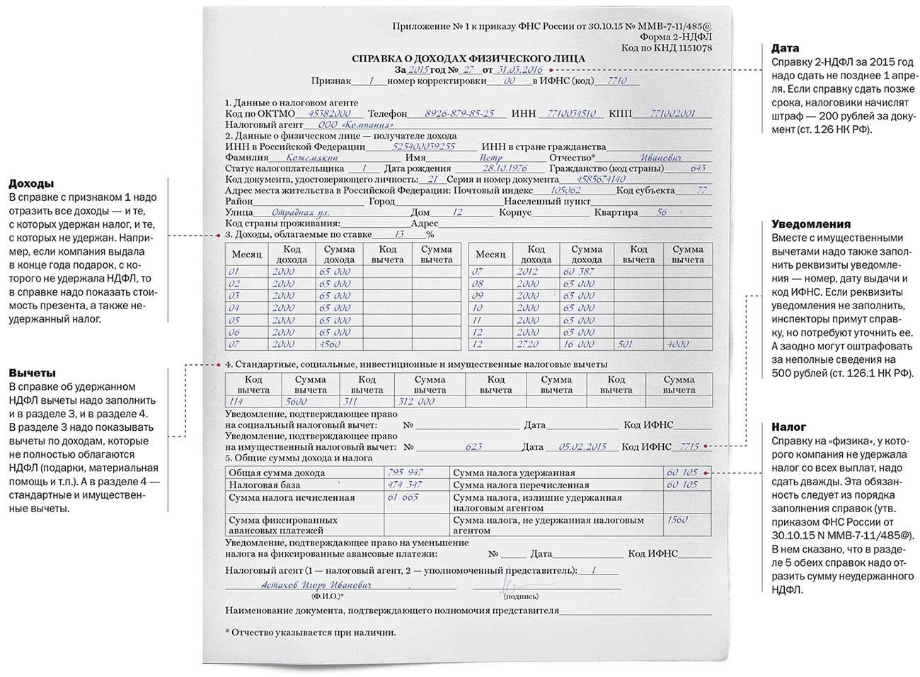 Сколько действует справка 2 НДФЛ для налогового вычета?