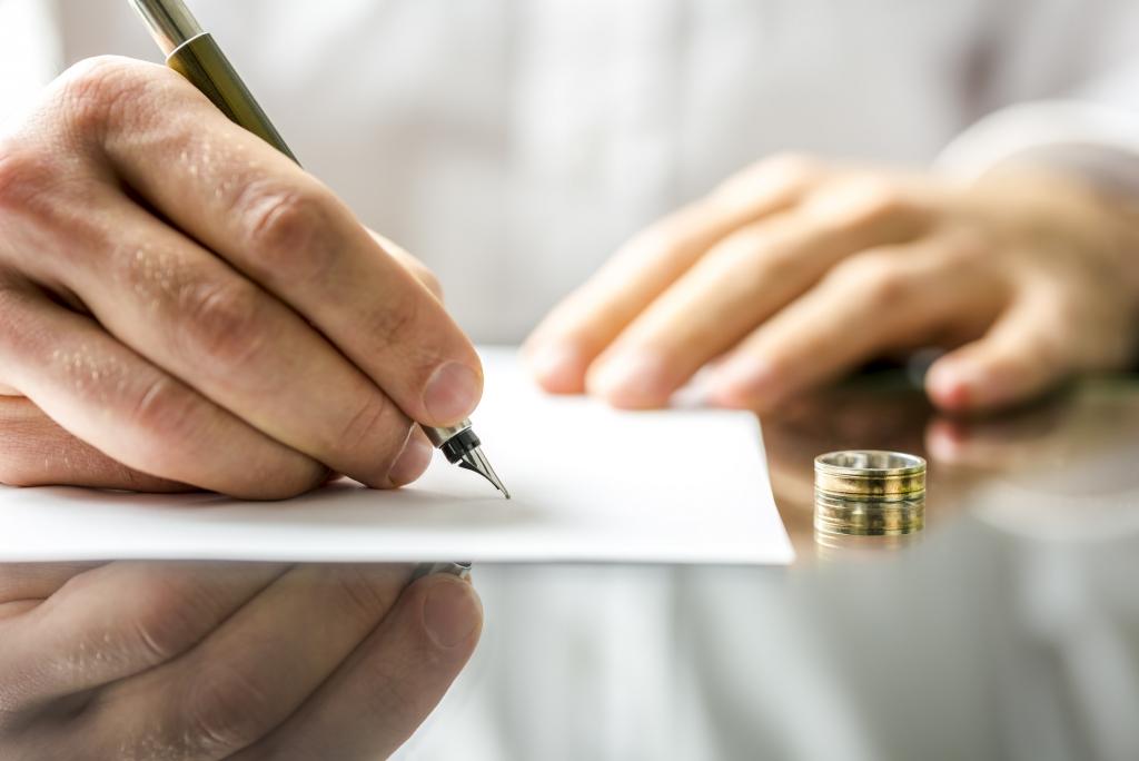 Сколько платить алименты при разводе