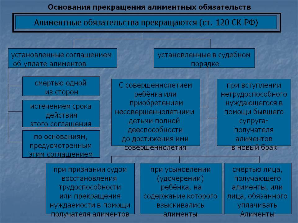 Статья про алименты семейного кодекса рф