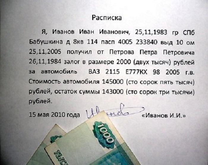 Исковое заявление по расписке в 2020 году - взыскании долга, возврате средств, между физическими лицами