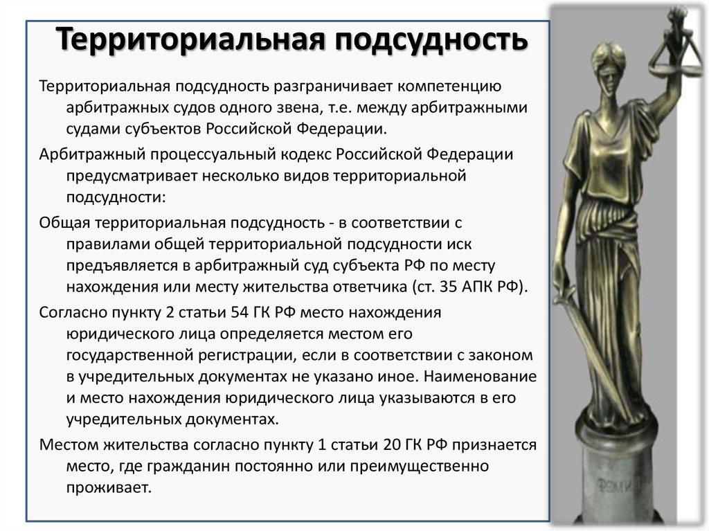Подсудность рассмотрения дел об административных правонарушениях